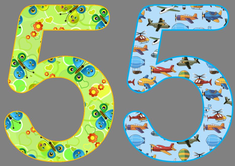 красивые цифры для детей картинки