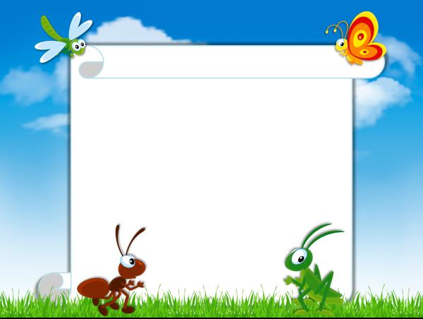 Лето насекомые шаблон превью 1