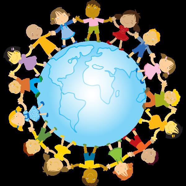 дети и земной шар