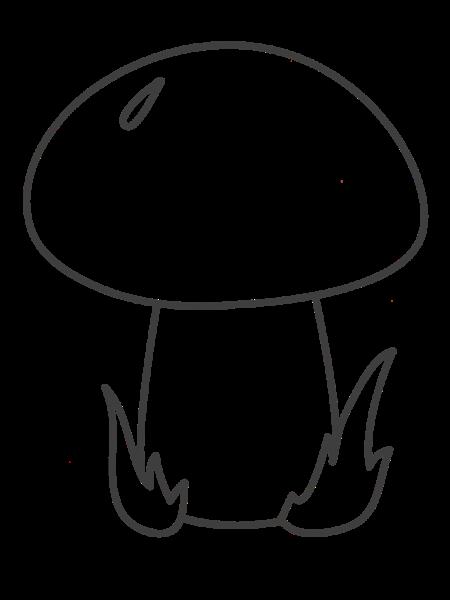 грибок-раскраска
