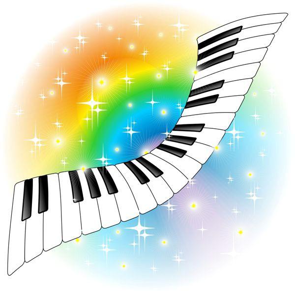 музыка, клавиши пианино