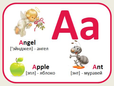 Английская азбука в картинках 3