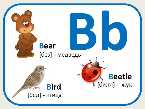 Английская азбука в картинках 4