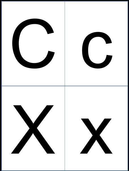 Буквы Cc