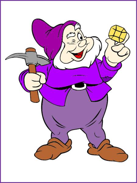 гномик фиолетовый