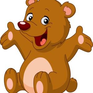 веселый медвежонок