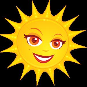Солнышко с обаятельной улыбкой