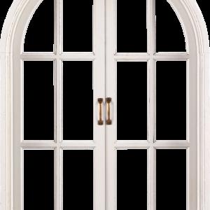 закрытое окно белая рама