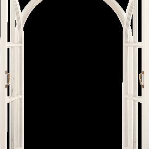 открытое окно белая рама