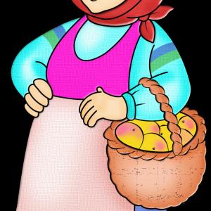 Баба с корзиной