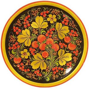 хохлома тарелка