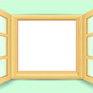 окно настеж