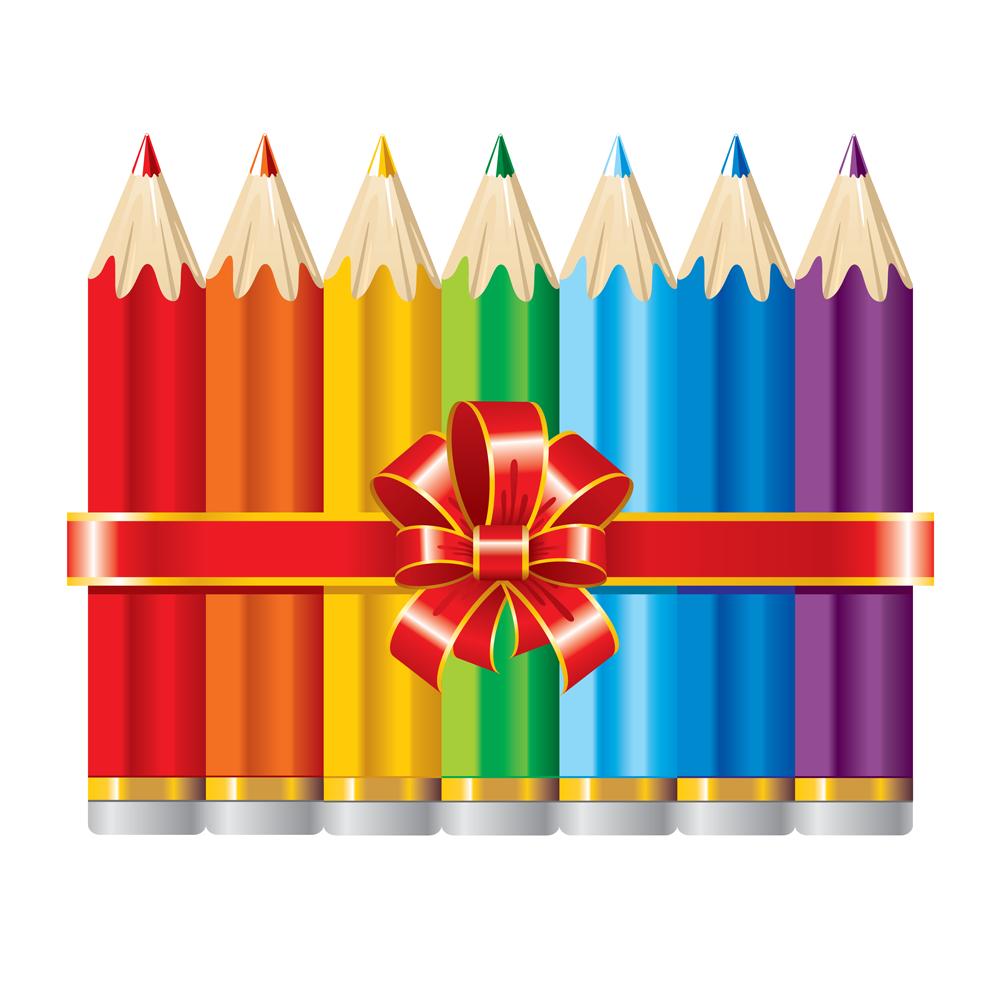 карандаши с лентой