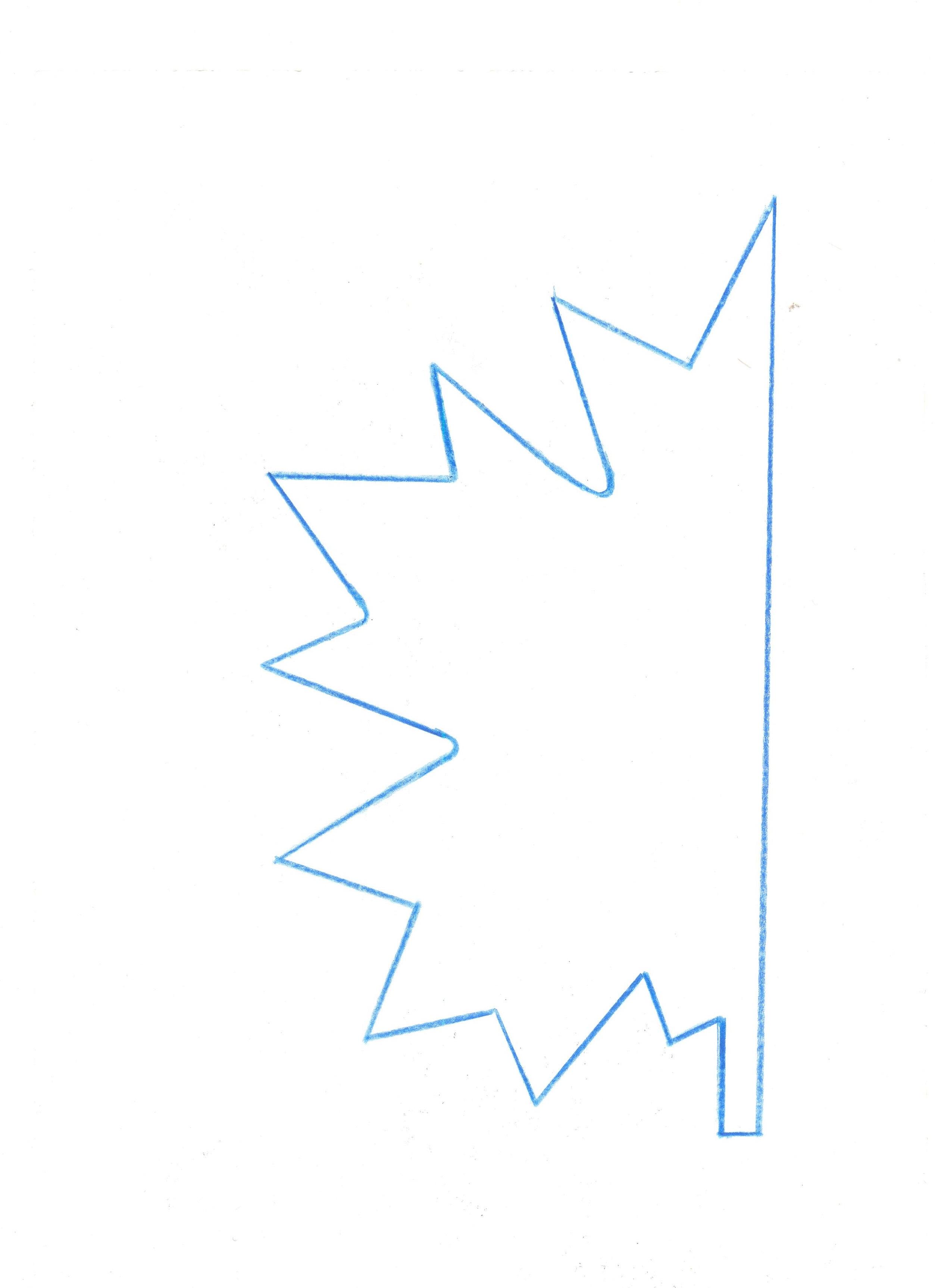 лист клена шаблон 01