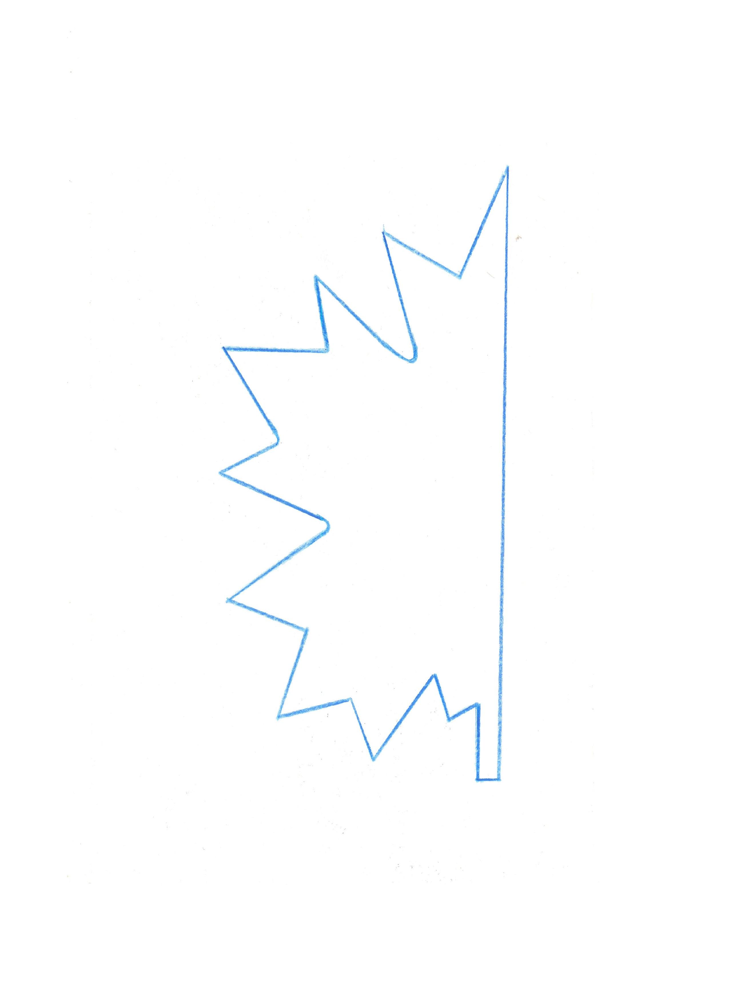 лист клена шаблон 2