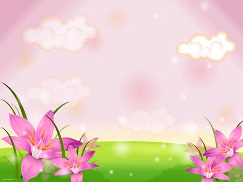 "Шаблон ""Весна, крокусы"""