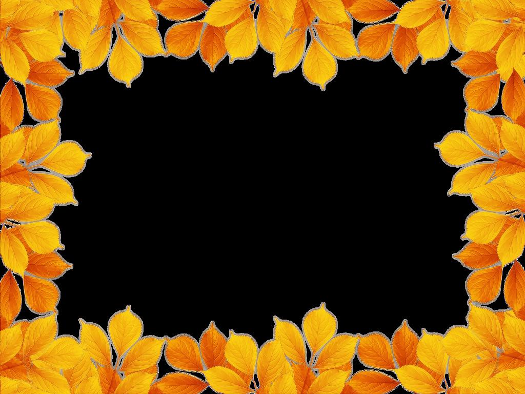 осенние листья рамка