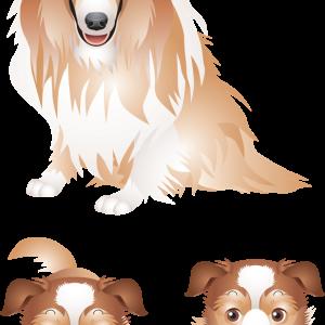 два щенка и мама Лайка