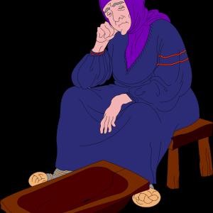 старуха у разбитого корыта