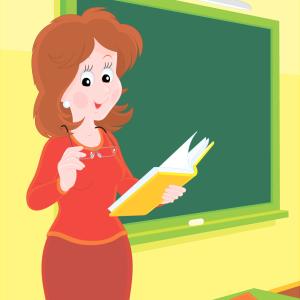 учительница у доски