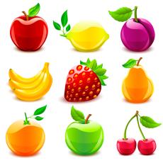 Фрукты, овощи, ягоды.