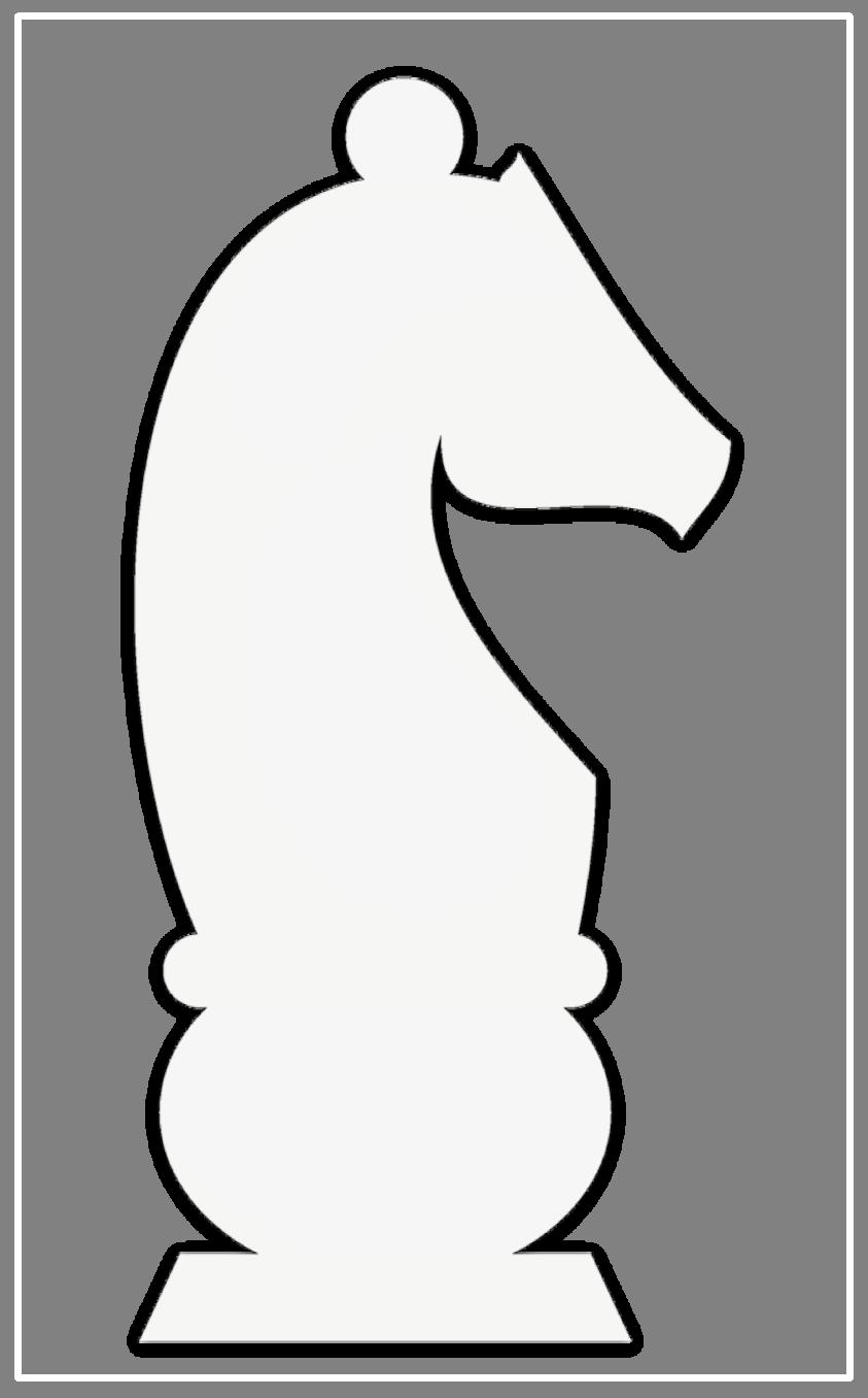 Шахматные фигуры раскраски