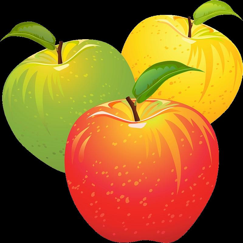 Фото Стеклянное яблоко с золотым листком на белом фоне