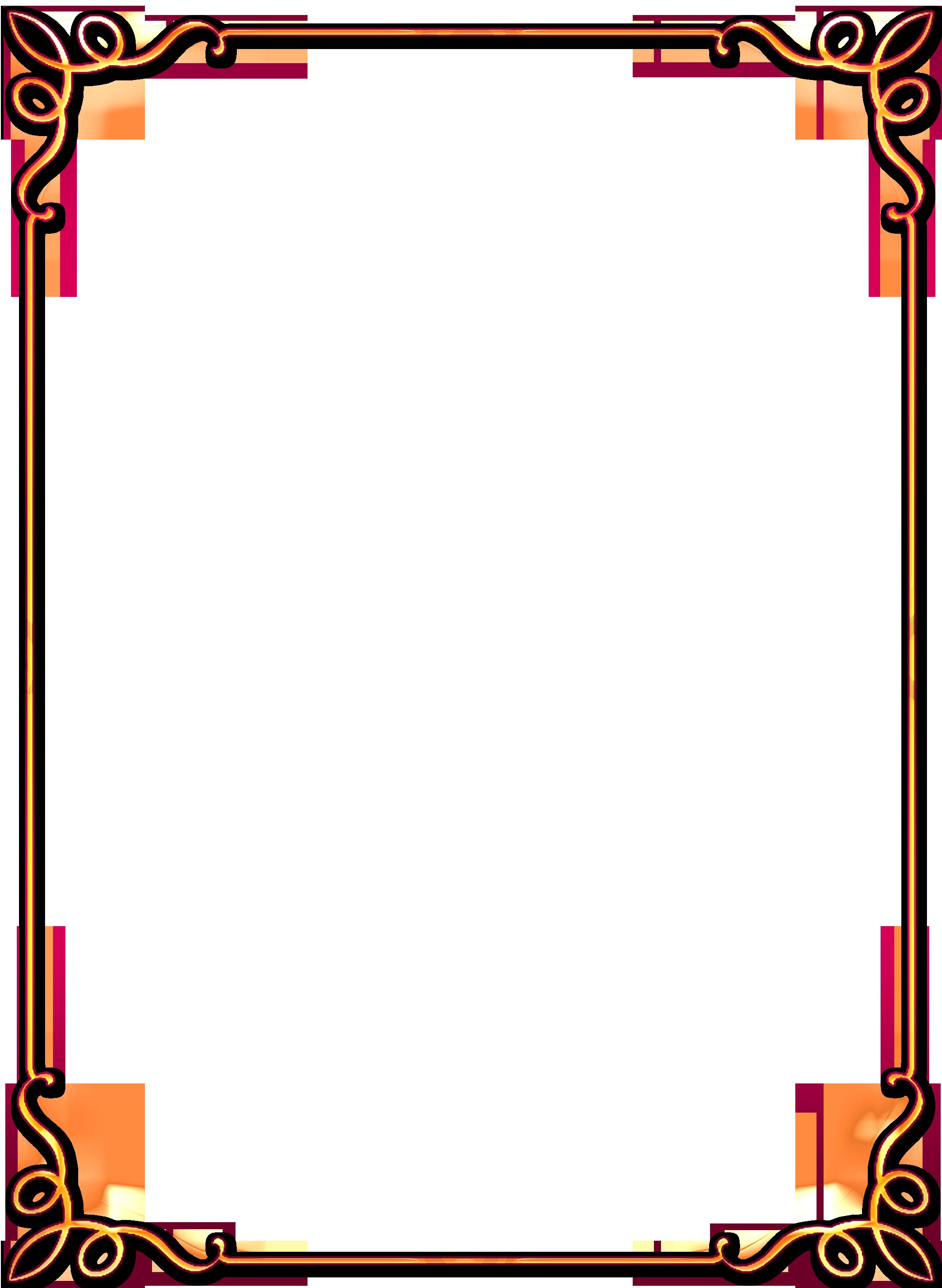 Как сделать рамки на рисунки формат а4