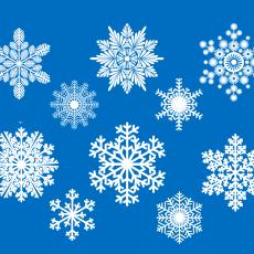 Снежинки белые