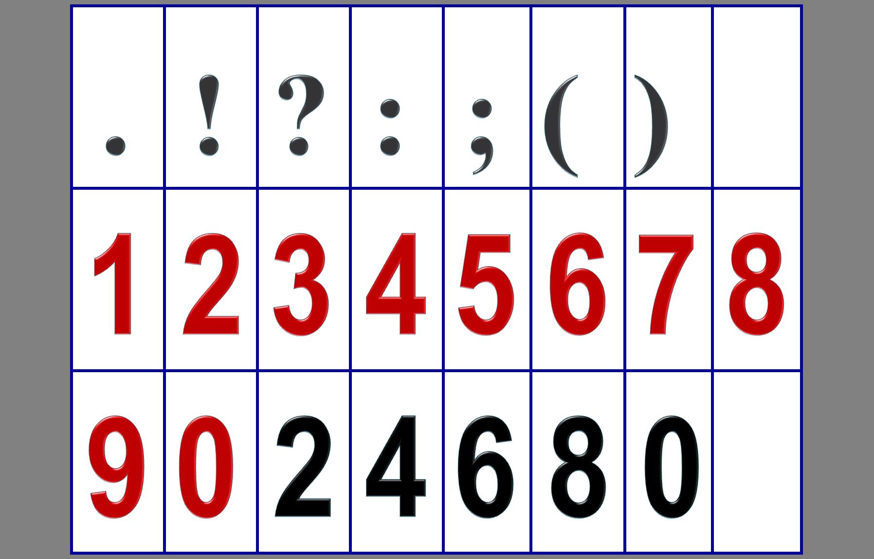 Как сделать чтобы на цифрах были знаки препинания