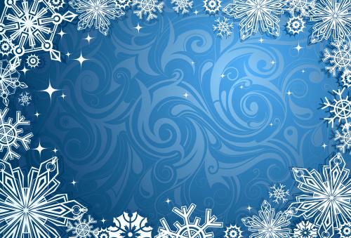 зимний новогодний фон 7