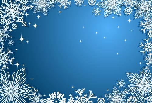 зимний новогодний фон 8