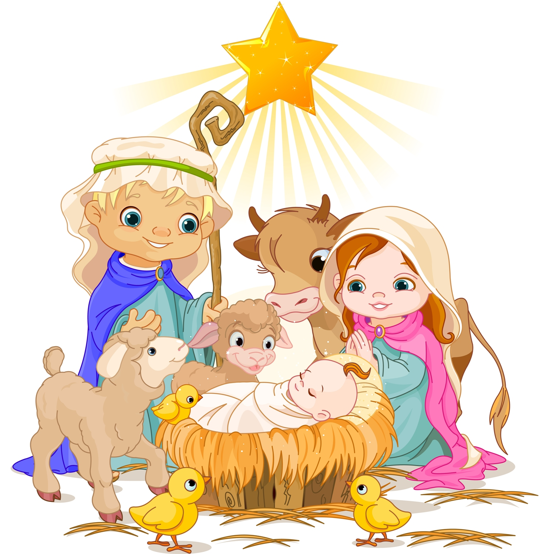 Христос родился. Святое семейство.