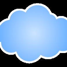 облако голубое
