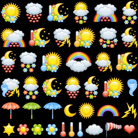 погода-картинки для уголка прроды