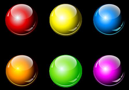 разноцветные круглые шары 1