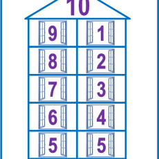 состав числа до 10 домики распечатать картинки